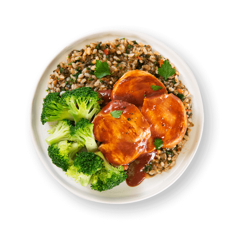 Texan Style Chicken with Cajun Spiced Brown Rice and Broccoli