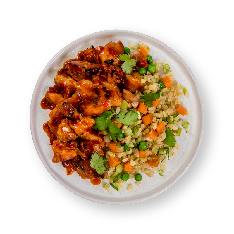 Korean Chilli Chicken with Keto Fried Rice