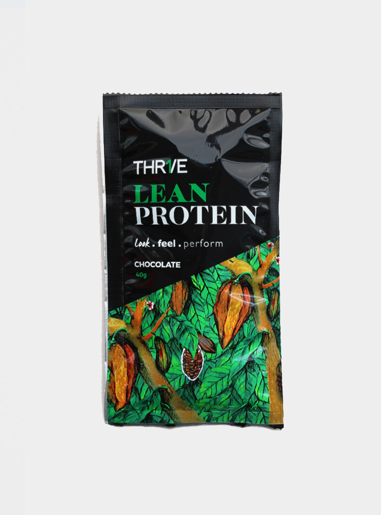 THR1VE Lean Chocolate Protein | Single Serve 40g