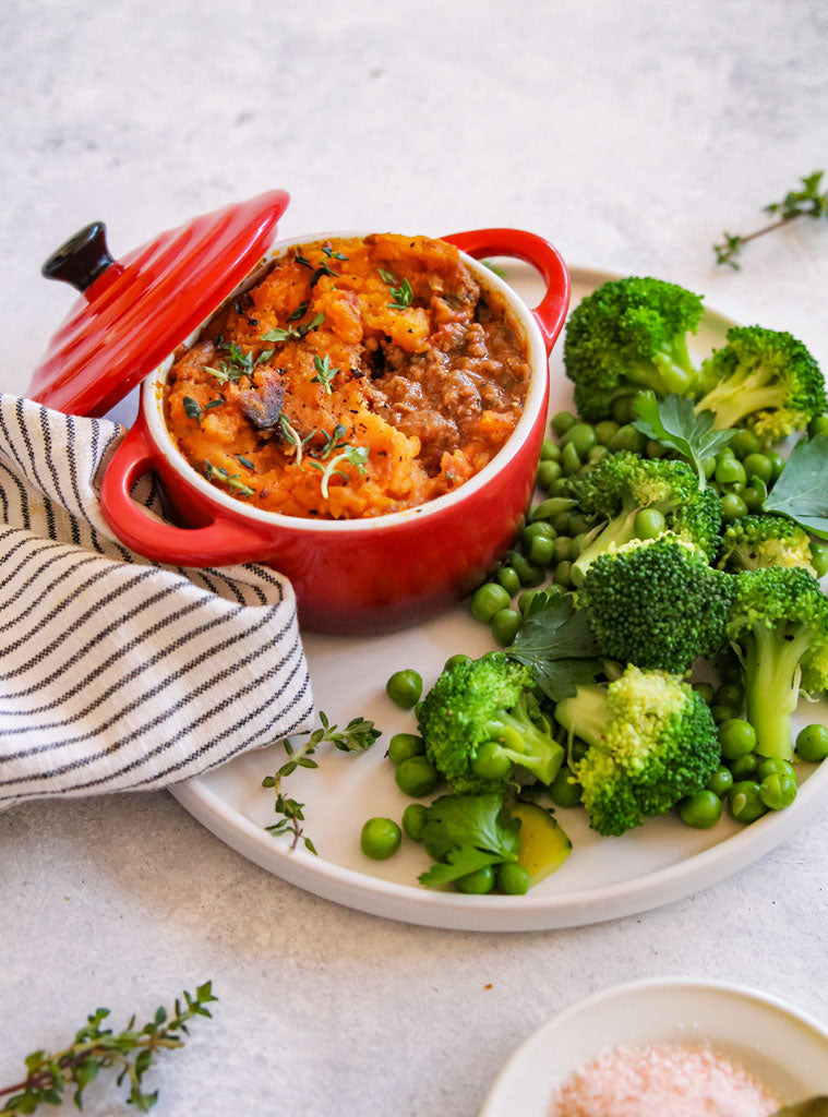 Clean Cottage Pie with Clean & Green Veg