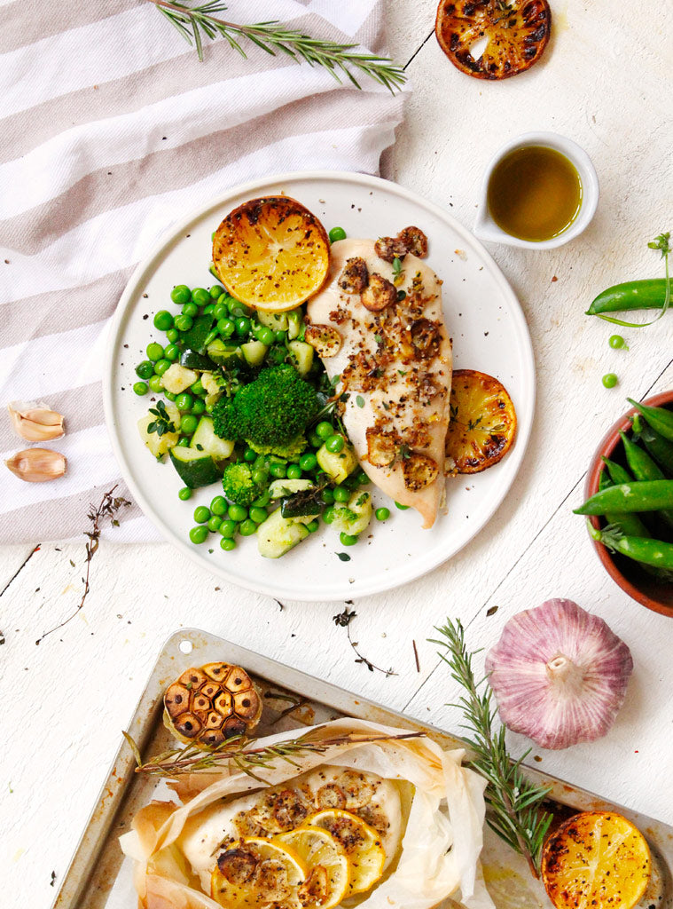 Lemon Chicken with Clean & Green Veg