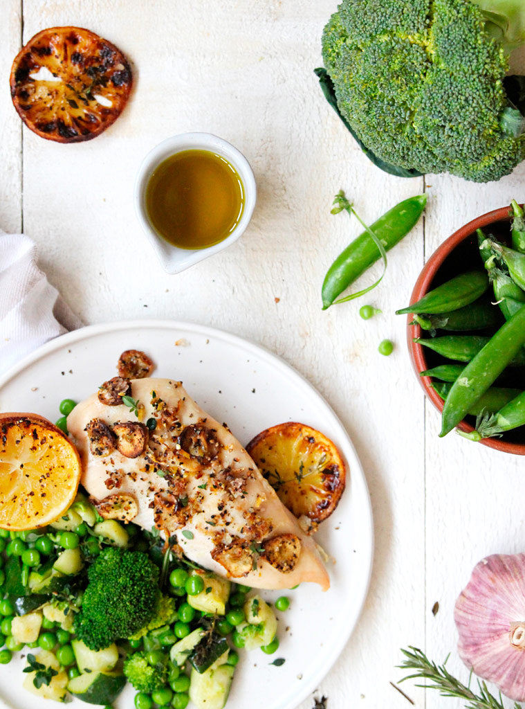 Grilled Lemon Chicken with Clean & Green Veg