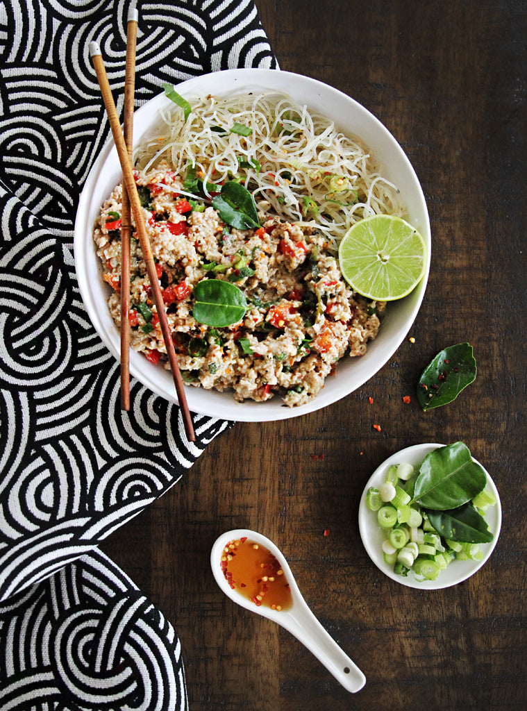 Lemongrass Chicken with Lime Vermicelli Noodles