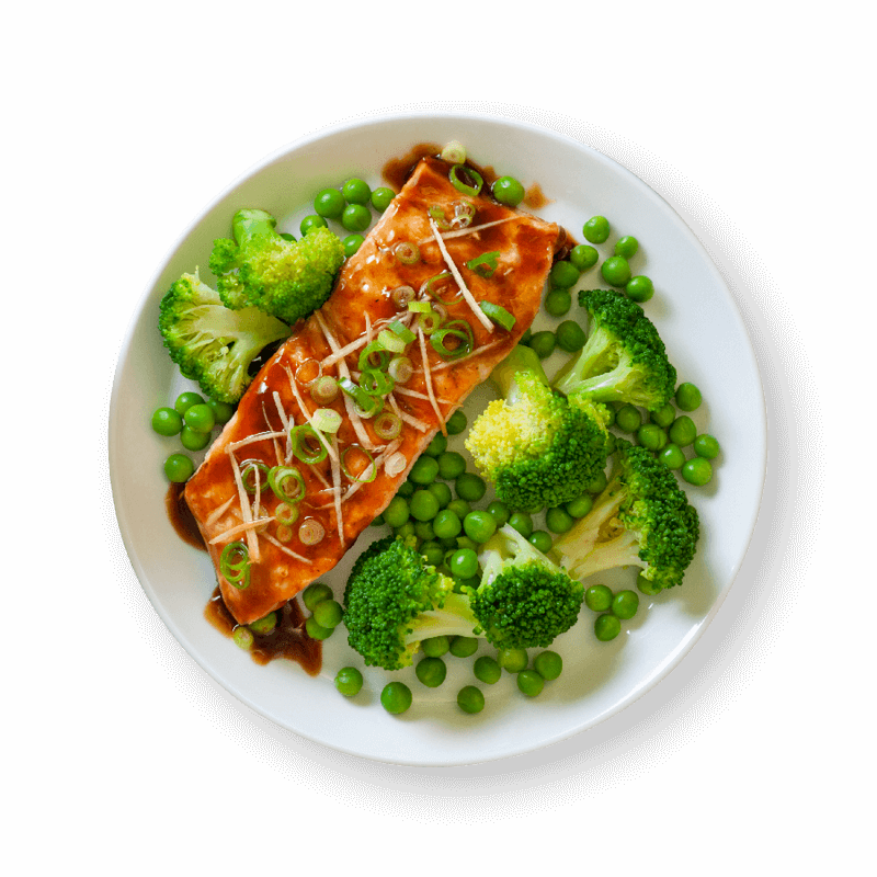 Teriyaki Salmon with Clean & Green Veg
