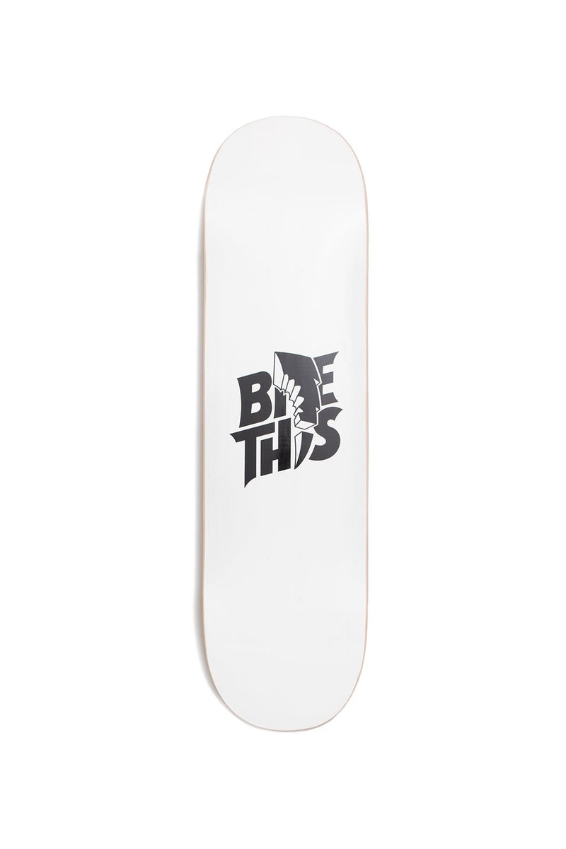 Bite This Stacked Skateboard Deck SKATE DECK BiteThis White