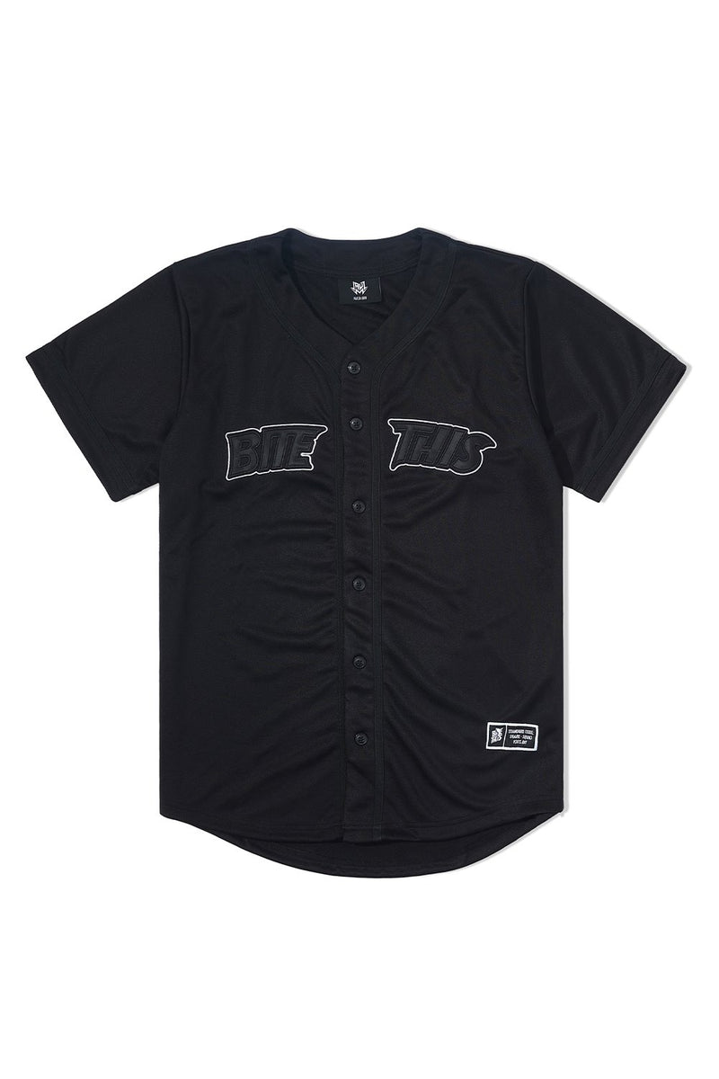 Bite This Holo Baseball Jersey JERSEY BiteThis S Black