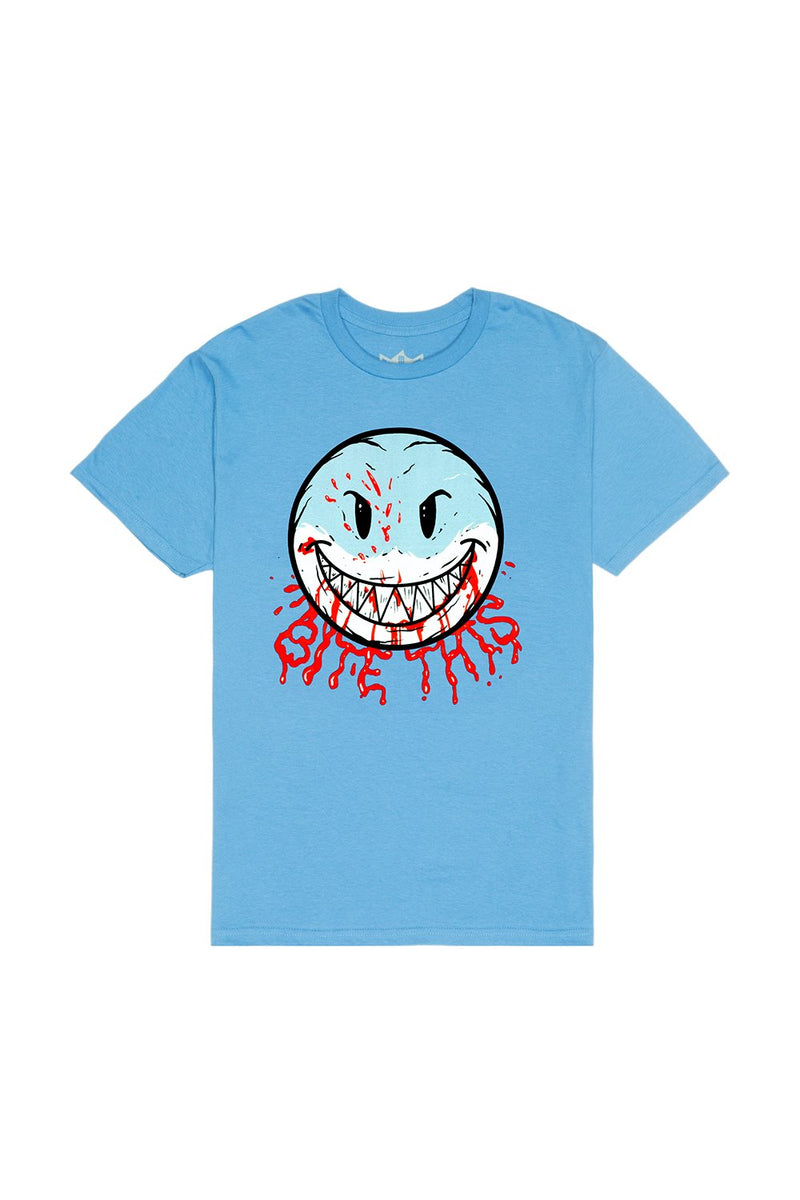 Bloody Smile T-Shirt T-SHIRT BiteThis S Light Blue