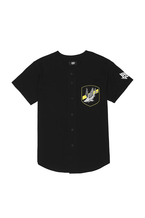 Dangerous Waters Baseball Jersey JERSEY JAUZ OFFICIAL S Black