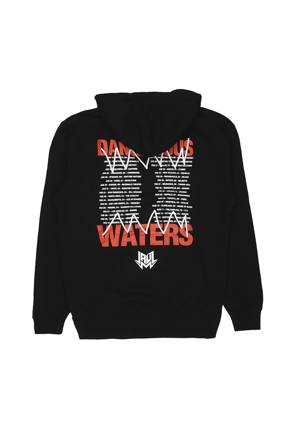 Dangerous Waters Tour Hoodie OUTERWEAR JAUZ OFFICIAL S Black