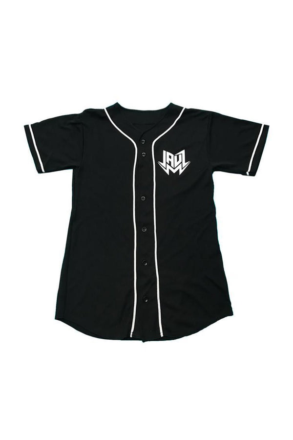 Jauz OG Logo Baseball Jersey JERSEY JAUZ OFFICIAL SMALL Black