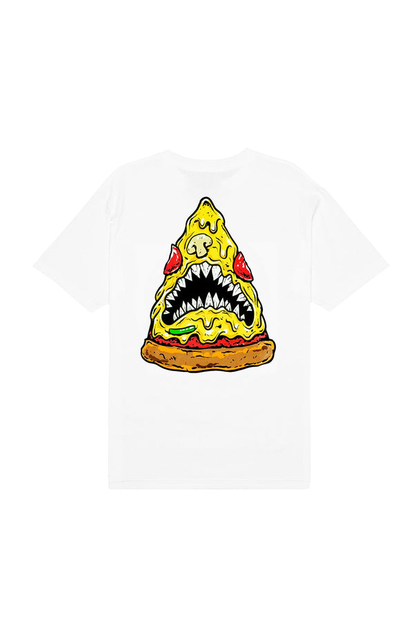Pizza Shark T-Shirt T-SHIRT BiteThis S White