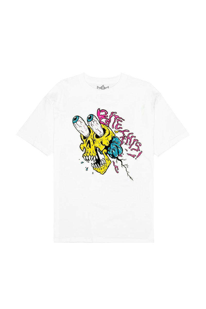 Skull Screamer T-Shirt T-SHIRT BiteThis S White