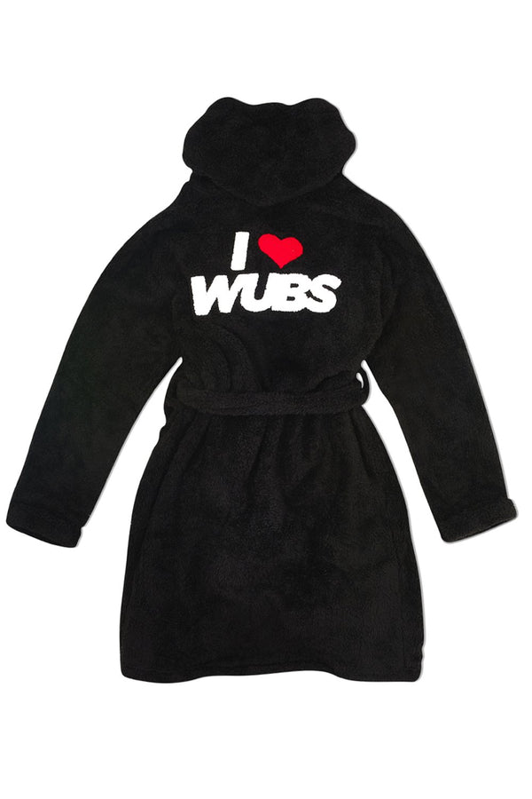 WUBS Lounge Robe OUTERWEAR JAUZ OFFICIAL SMALL / MEDIUM Black