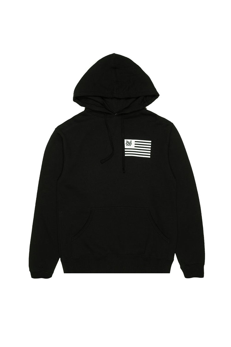 FLAG PULLOVER OUTERWEAR JAUZ OFFICIAL SMALL Black