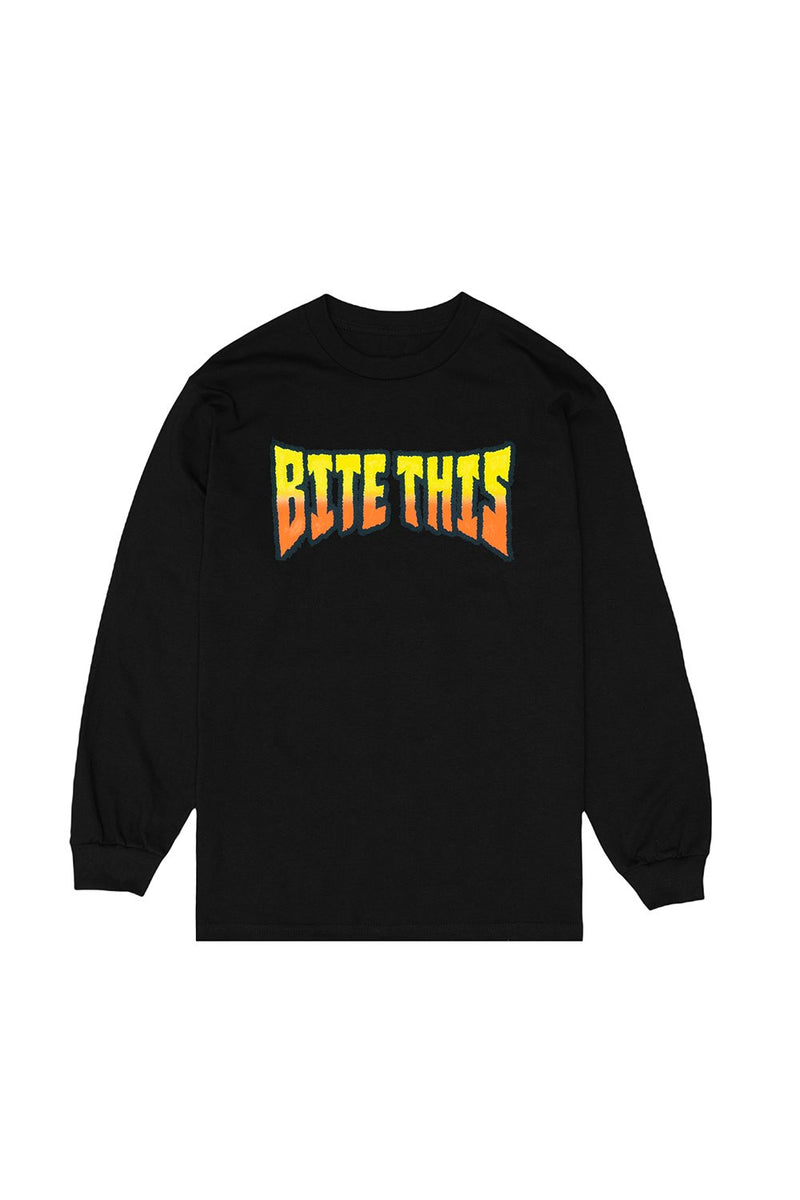 Text Longsleeve LONG SLEEVE BiteThis Small