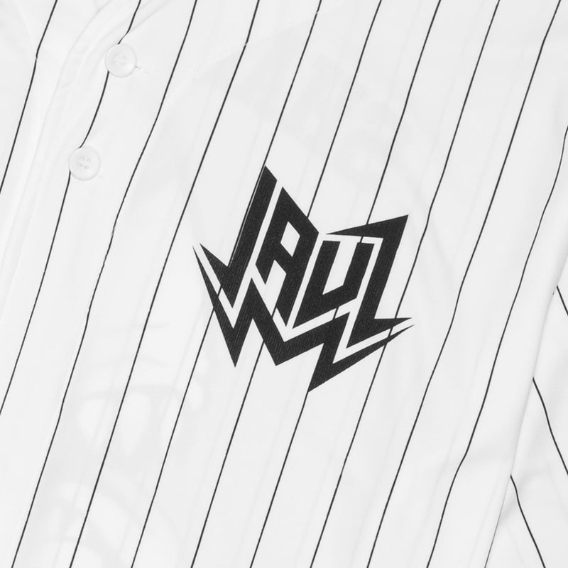Shark Head Pinstripe Baseball Jersey JERSEY JAUZ OFFICIAL