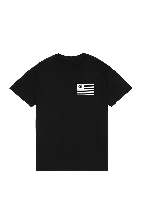 FLAG BLACK T-SHIRT JAUZ OFFICIAL SMALL Black
