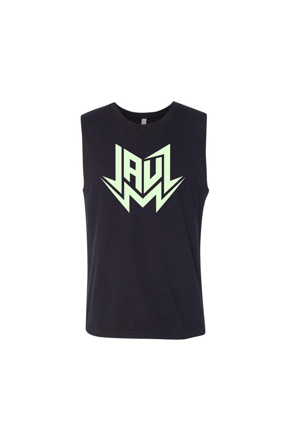 Jauz Glow in the Dark Muscle Tank JAUZ OFFICIAL SMALL Black