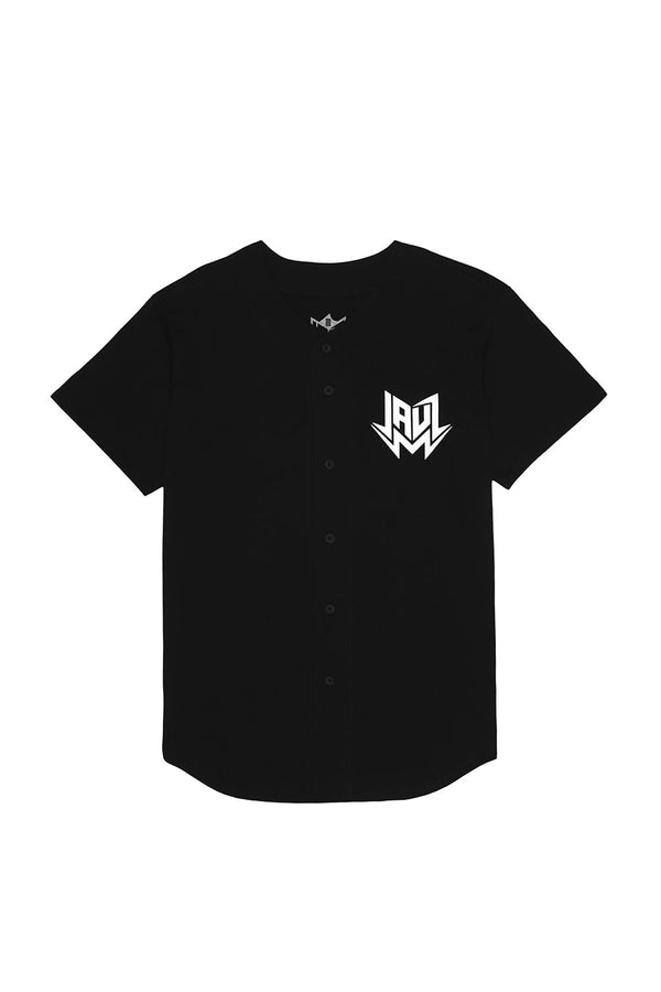 Shark Head Baseball Jersey JERSEY JAUZ OFFICIAL S Black