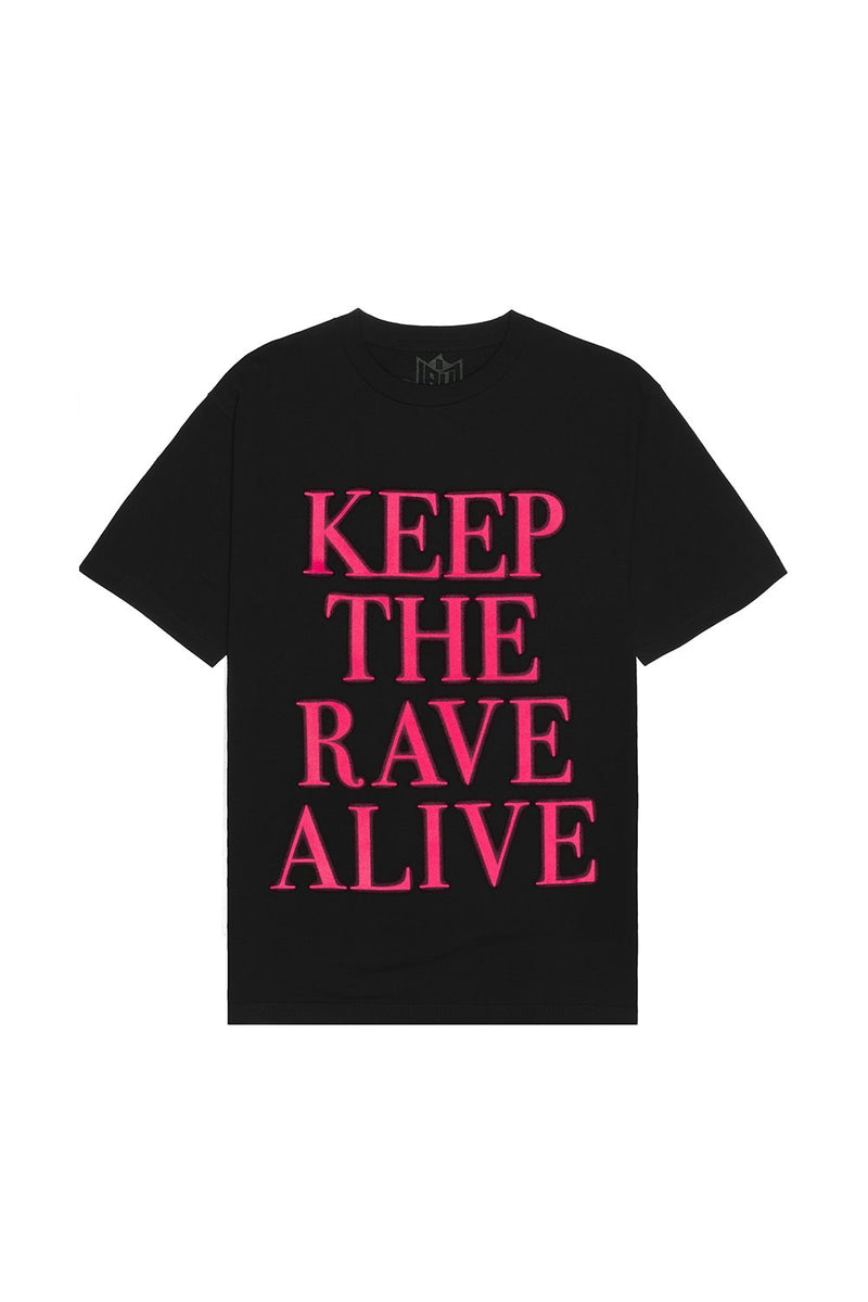 Keep The Rave Alive T-Shirt T-SHIRT JAUZ OFFICIAL S Black