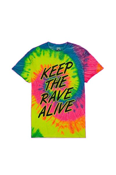 Keep The Rave Alive Tie-Dye T-Shirt T-SHIRT JAUZ OFFICIAL