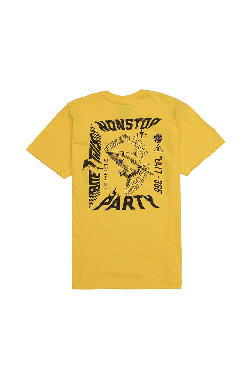 Non-Stop Party T-Shirt T-SHIRT BiteThis S Yellow