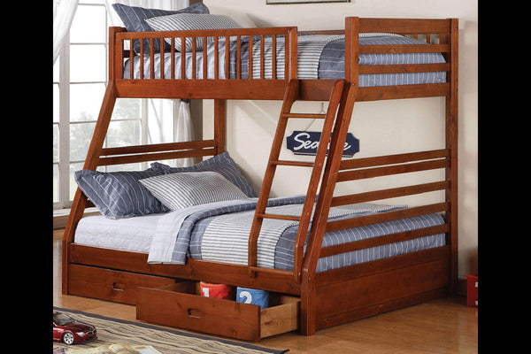 Cherry, Espresso or Honey Single/Double Bunk Bed