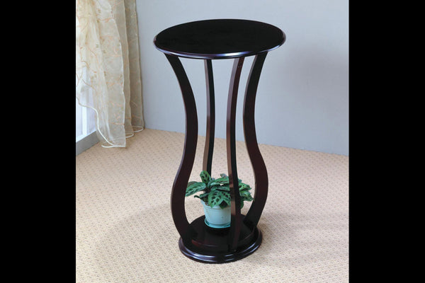 Espresso Curved Leg Side Table