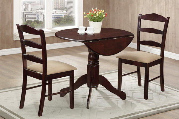3 Piece Espresso Dining Set