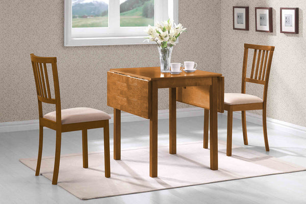 3 Piece Adjustable Burnished Oak Dining Set