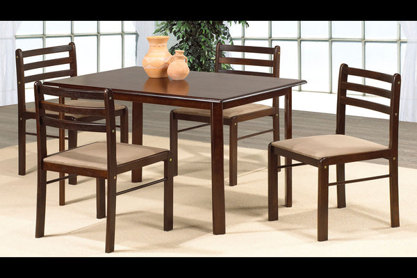 5 or 7 Piece Espresso Dining Set