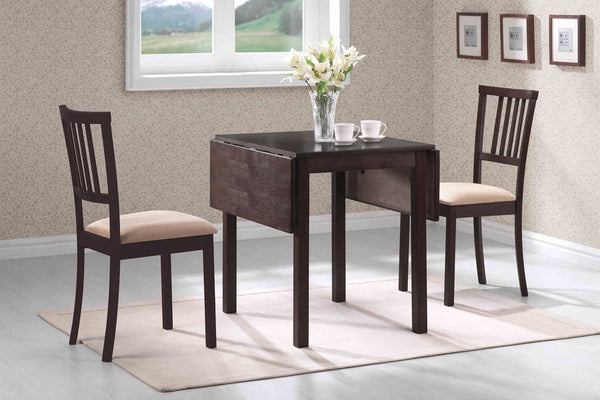 3 Piece Adjustable Espresso Dining Set