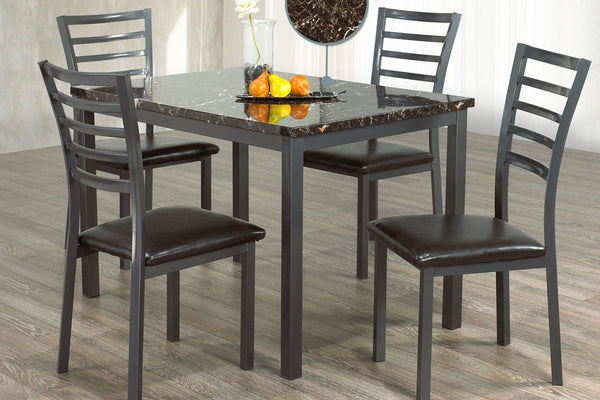 5 or 7 Piece Marble Top Dining Set
