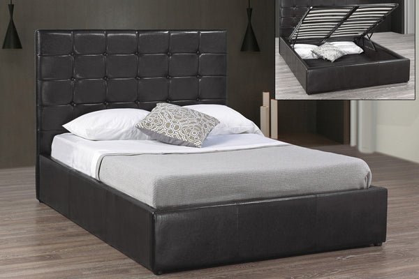 Black Hydrolic Lift Storage Bed Frame