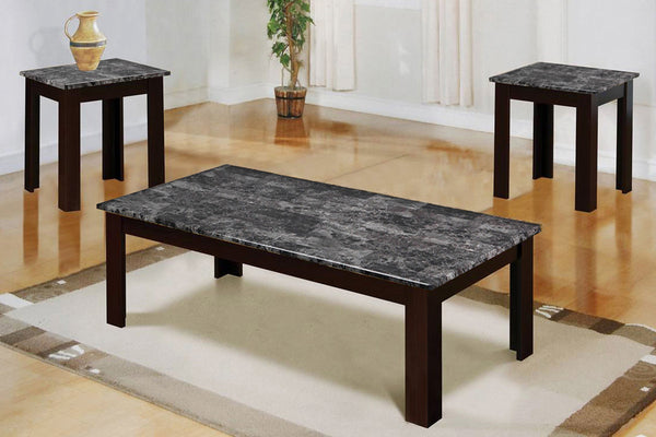 3 Piece Espresso Coffee Table Set