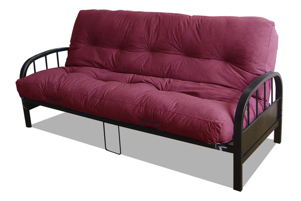 Black Metal Futon Frame & Mattress