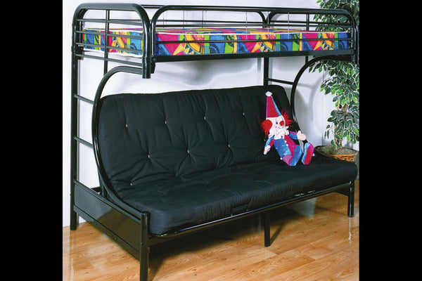 Black or White Metal Futon Bunk Bed