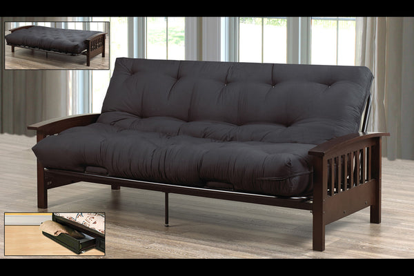 Wood Futon Frame & Mattress