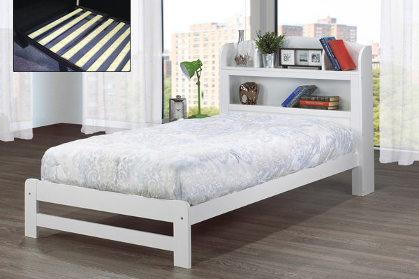 Espresso or White Single Bed Frame