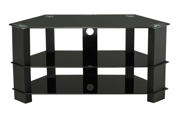 "Black 3 Shelf TV Stand - Holds up to 50"" TV"