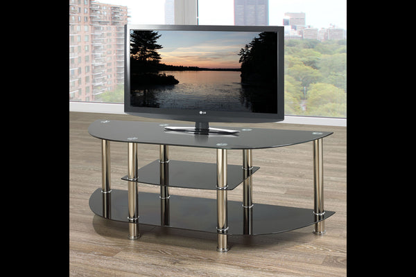 "Black 3 Shelf TV Stand - Holds up to 60"" TV"