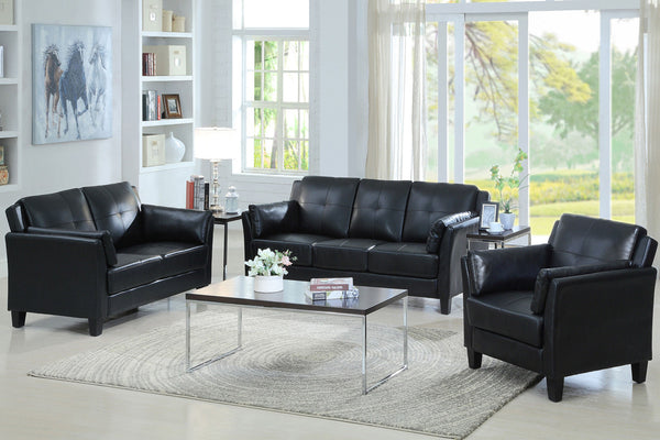 Best Seller! Black 3 Piece Sofa Set