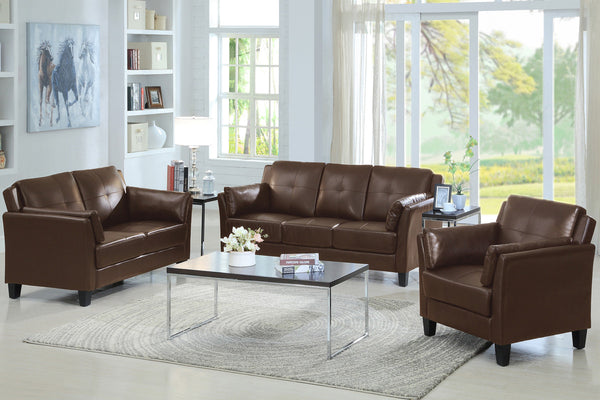 Best Seller! Brown 3 Piece Sofa Set