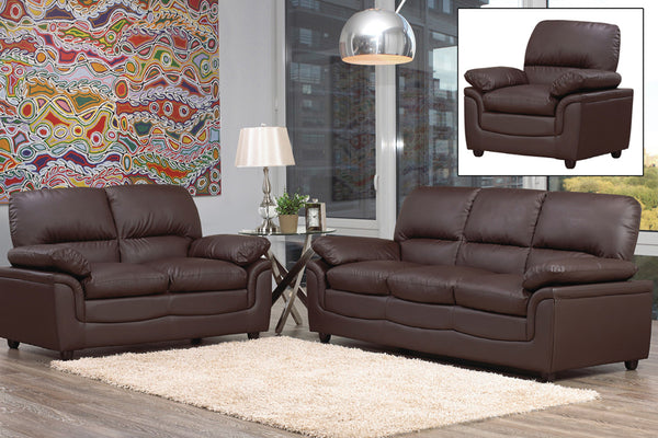 3 Piece Bonded Leather Sofa Recliner Set