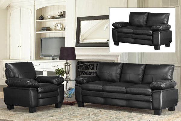 3 Piece Bonded Leather Executive Sofa Set
