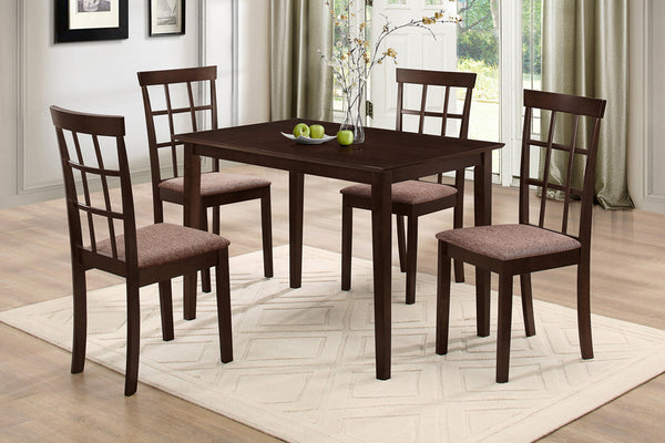 5 or 7 Piece Espresso Window Back Dining Set
