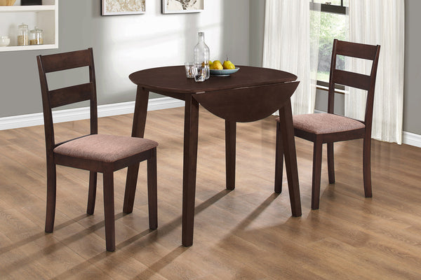 3 Piece Espresso Dining Set 4
