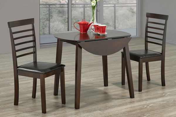 3 Piece Espresso Dining Set 1