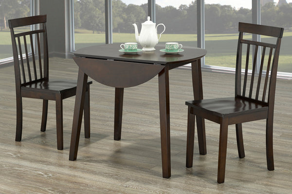 3 Piece Espresso Dining Set 2