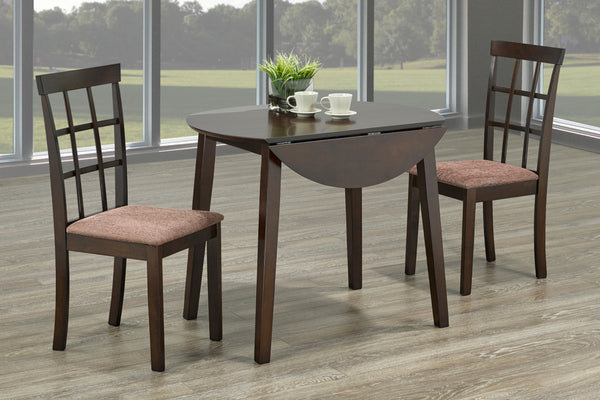 3 Piece Espresso Dining Set 3
